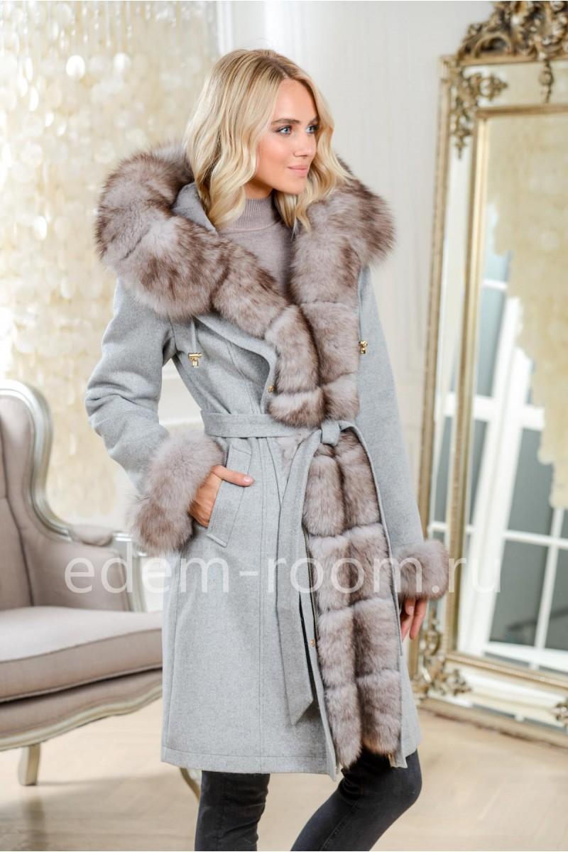 Женская парка - пальто с мехом