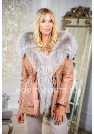 Укороченная парка-куртка на зиму