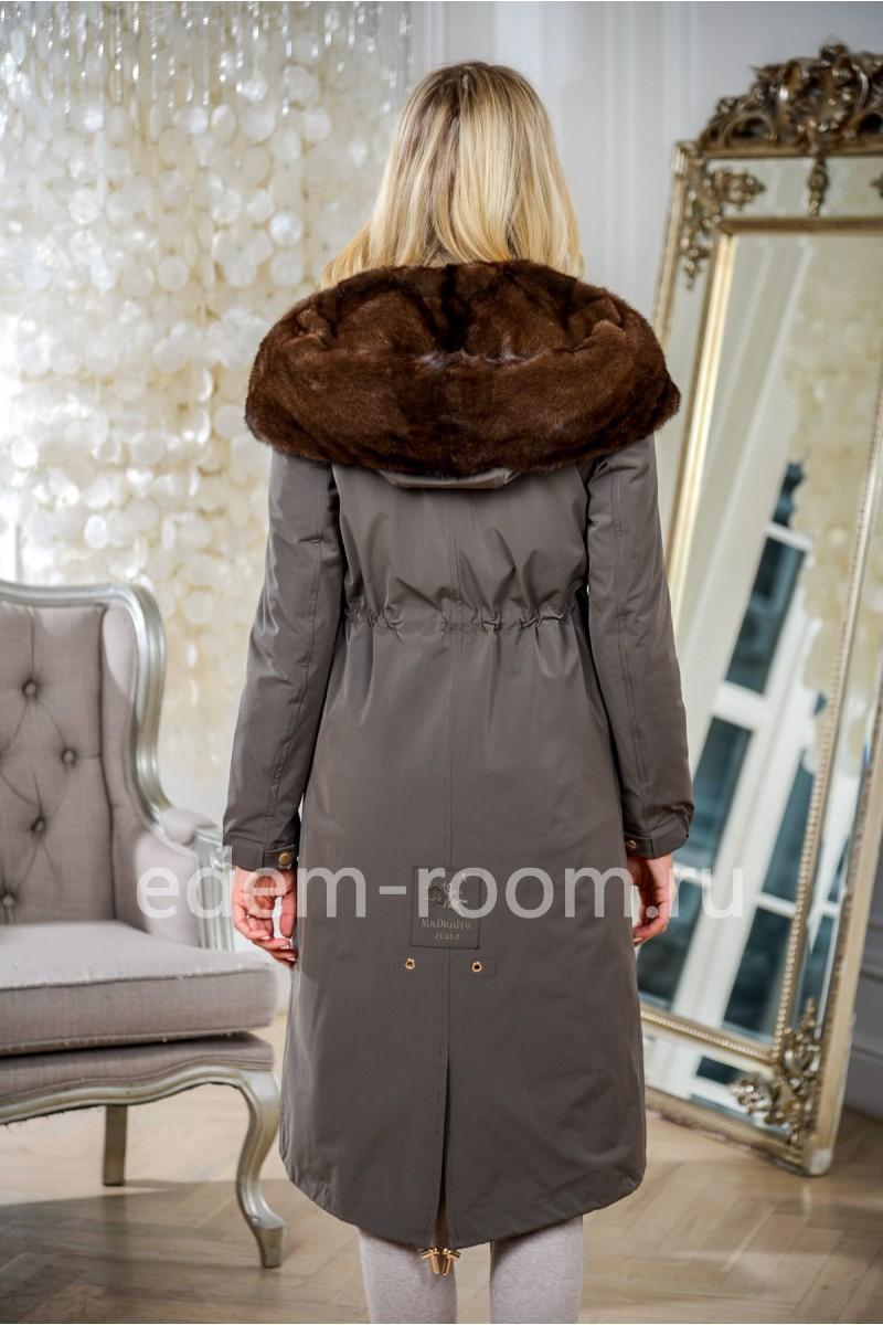 Парка - пальто с норковым капюшоном