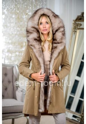Зимняя парка-пальто с мехом