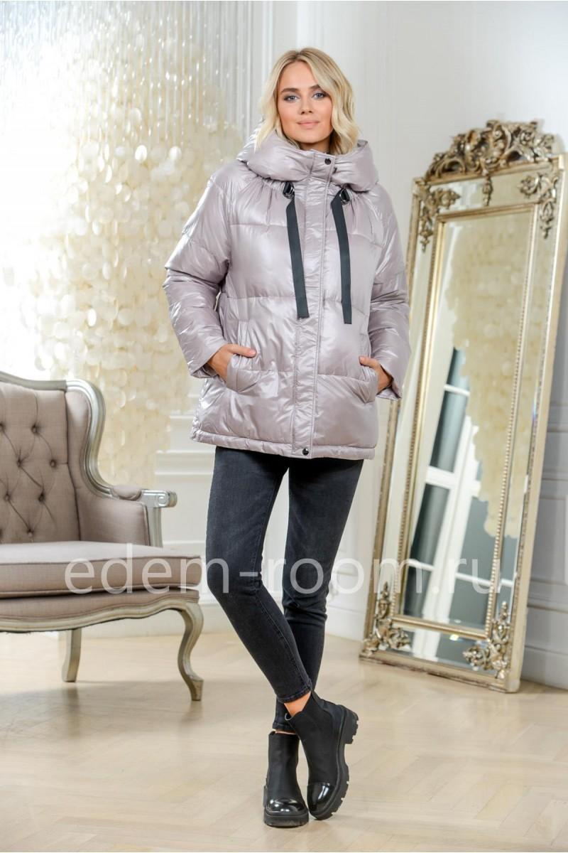 Укороченная пуховая куртка