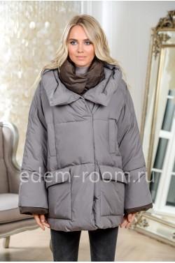 Объёмный пуховик - куртка