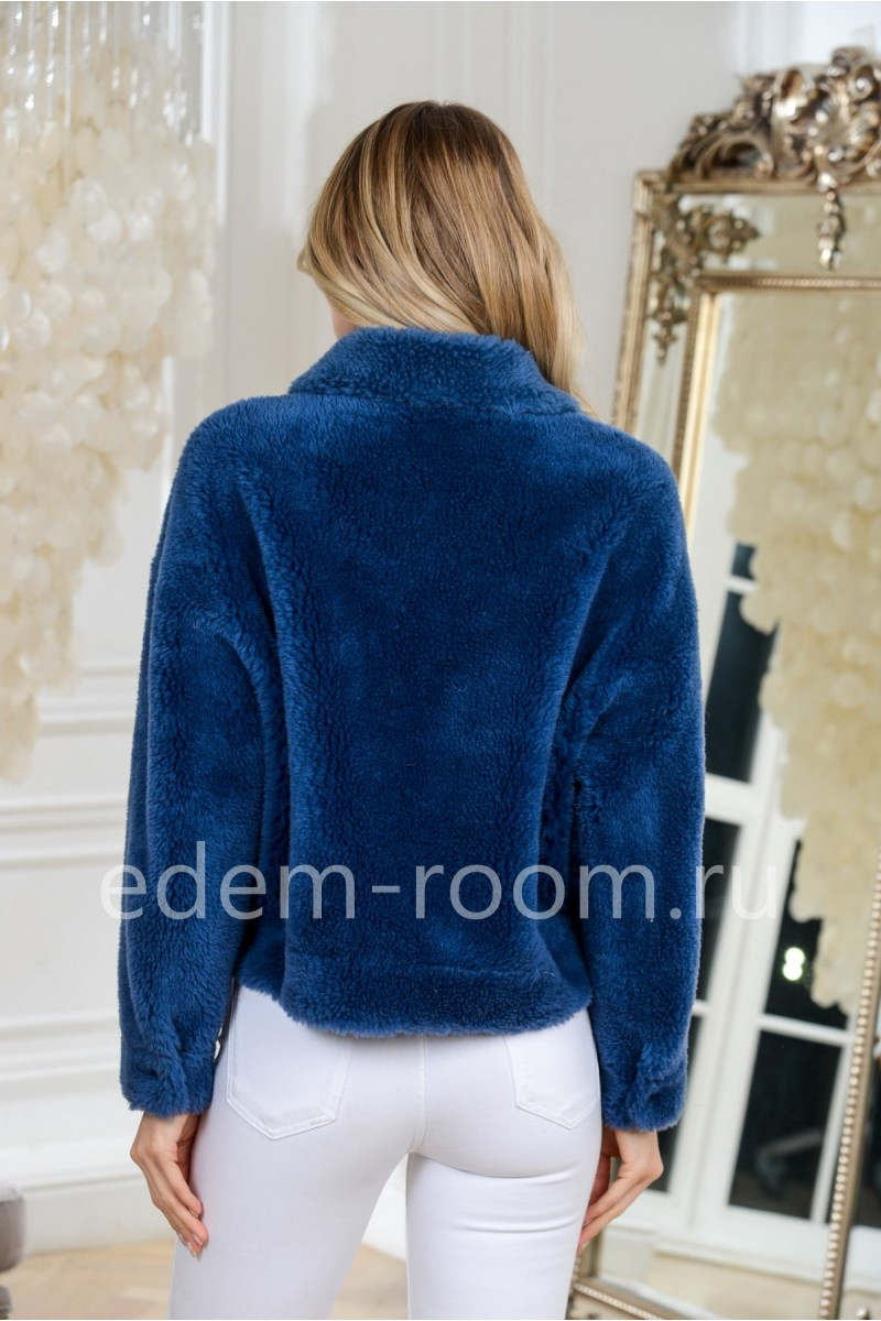 Короткая шубка -куртка  из шерсти