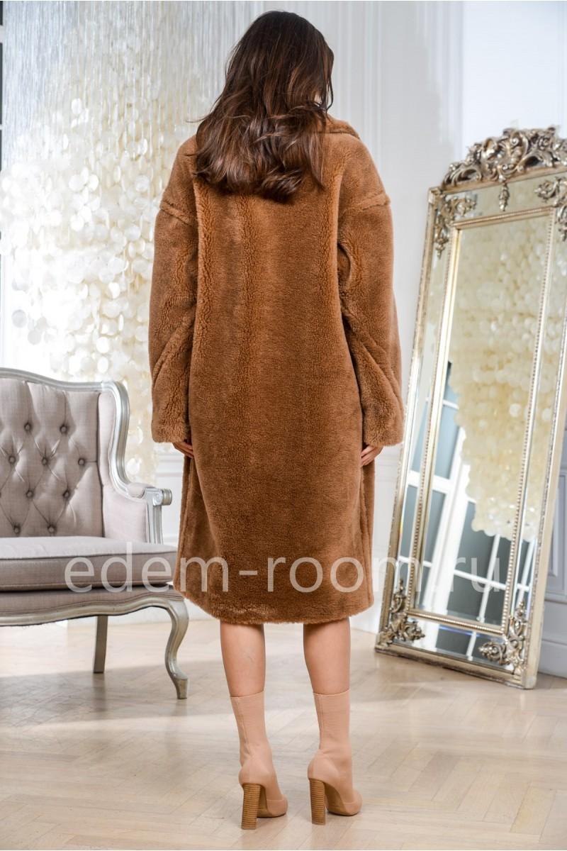Модная шуба из шерсти