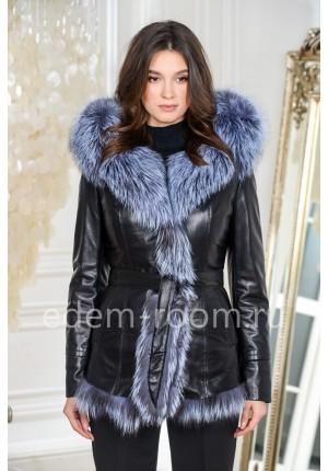 Зимняя кожаная куртка на подстёжке