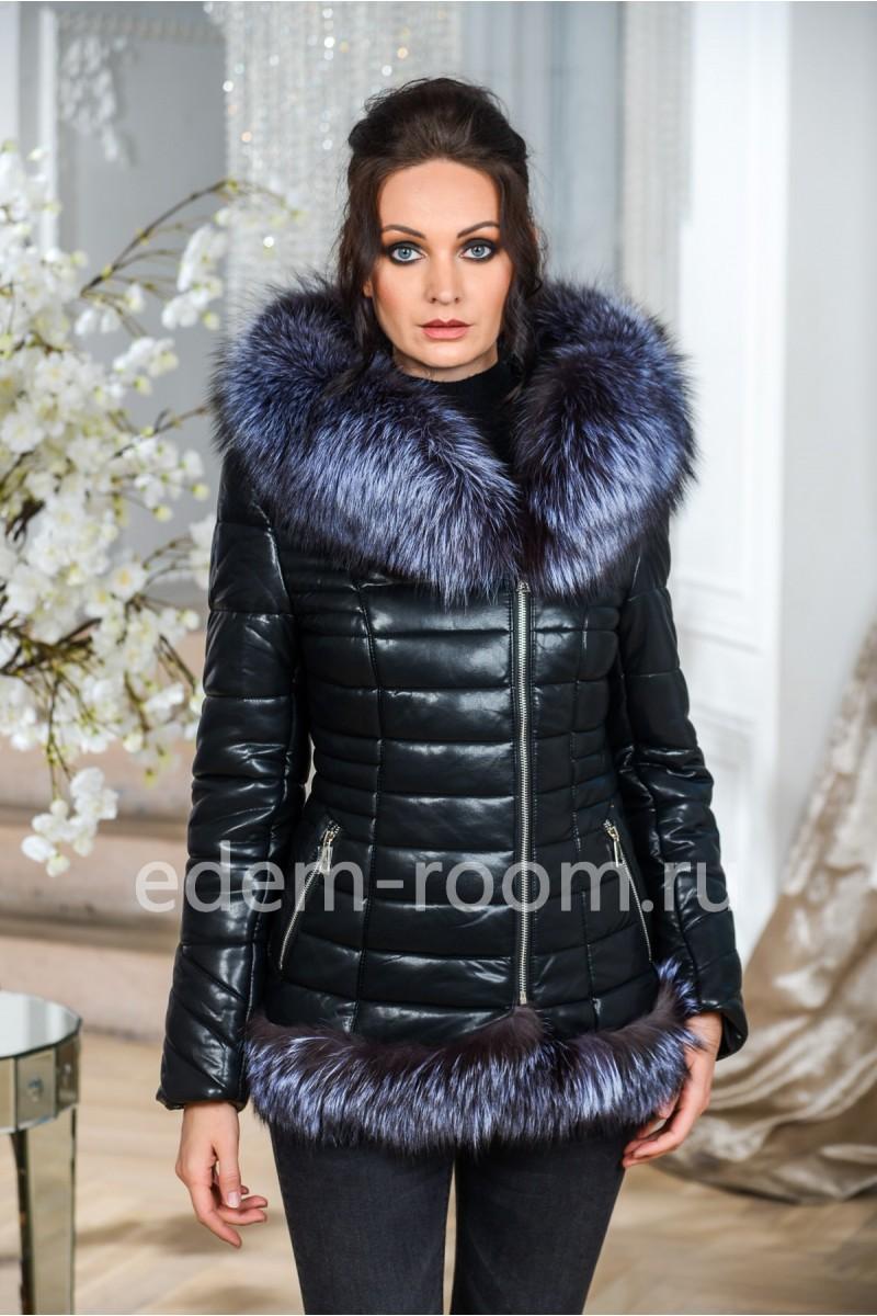 Современная куртка с мехом