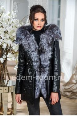 Зимняя куртка - парка с натуральным мехом