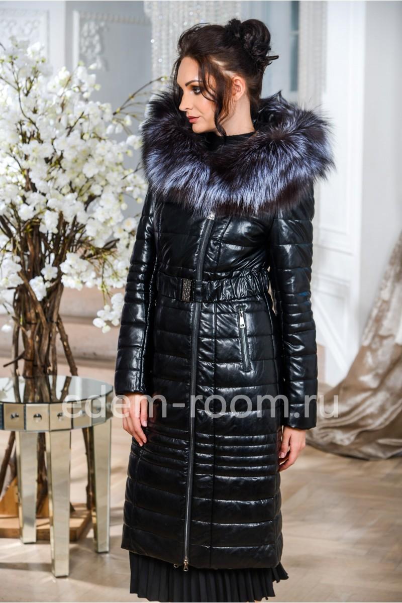 Пальто для зимы из экокожи