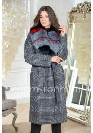 Утепленное пальто с мехом 2020-2021
