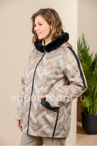 Демисезонная куртка из искусственной замши