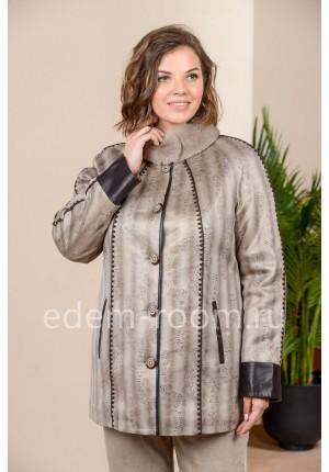 Куртка на межсезонье из экозамши