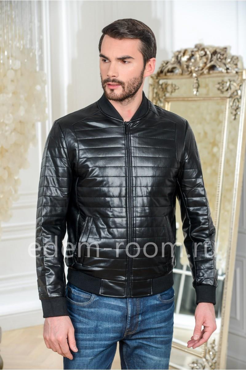 Куртка из эко-кожи - бомбер