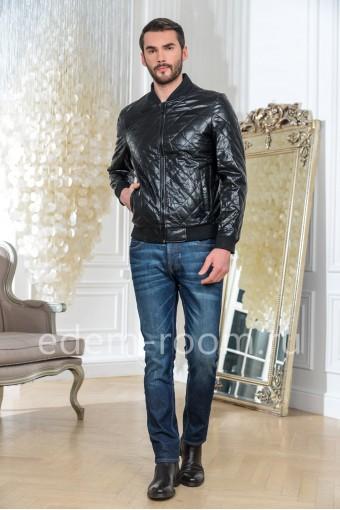 Мужская куртка из эко-кожи на весну