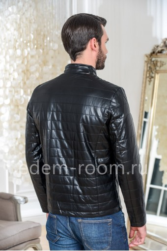 Мужская куртка из эко-кожи