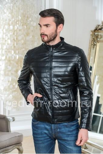 Мужская куртка из искусственной кожи