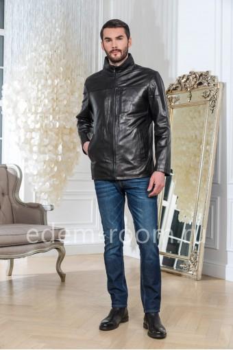 Куртка из мягкой кожи, черная