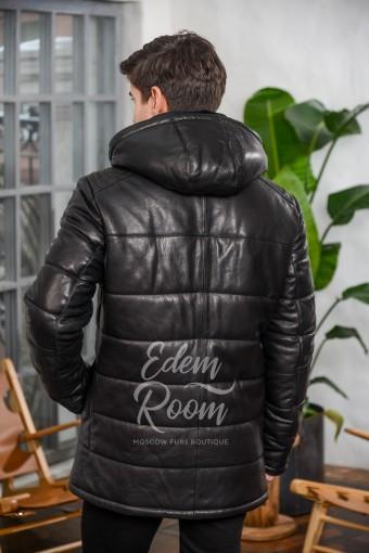 Кожаная утеплённая куртка для зимы