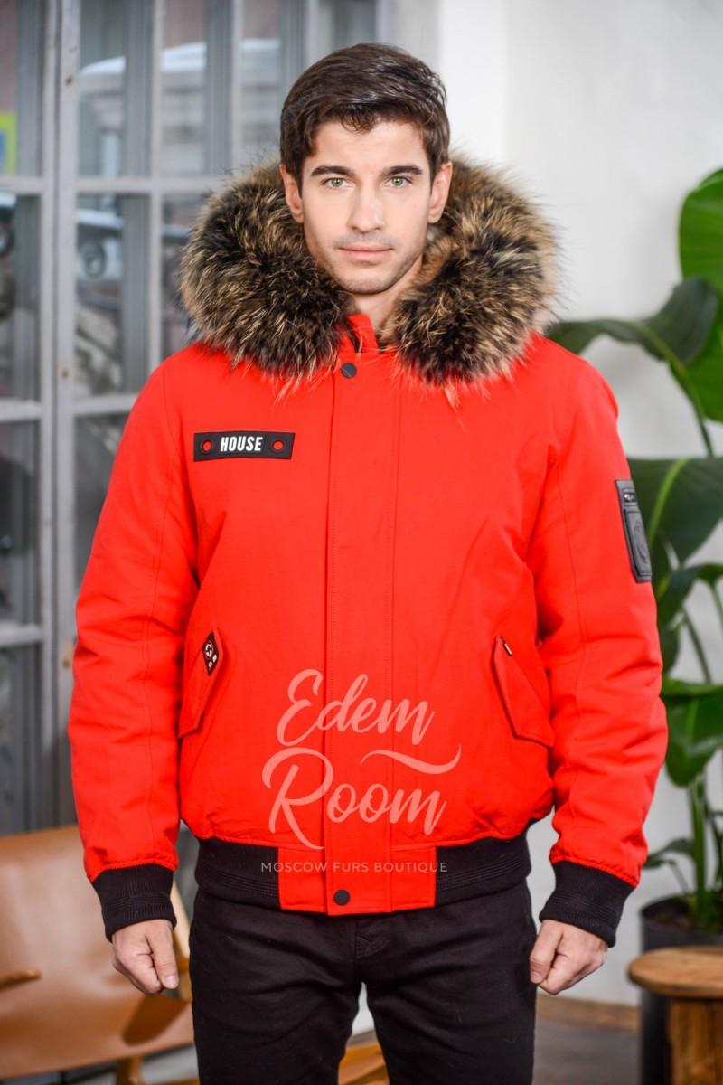 Зимняя мужская куртка на резинке