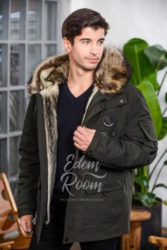 Зимняя мужская куртка - парка на мехе