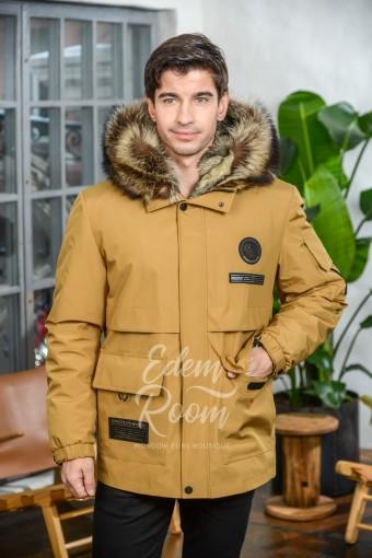 Куртка - дублёнка на волке