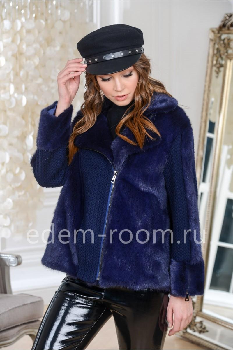 Поперечная куртка - косуха норковая