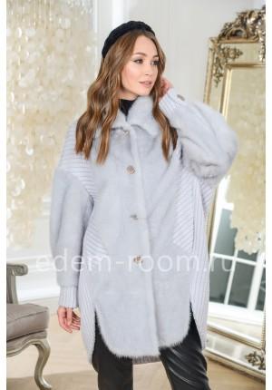 Удлинённая куртка из меха норки