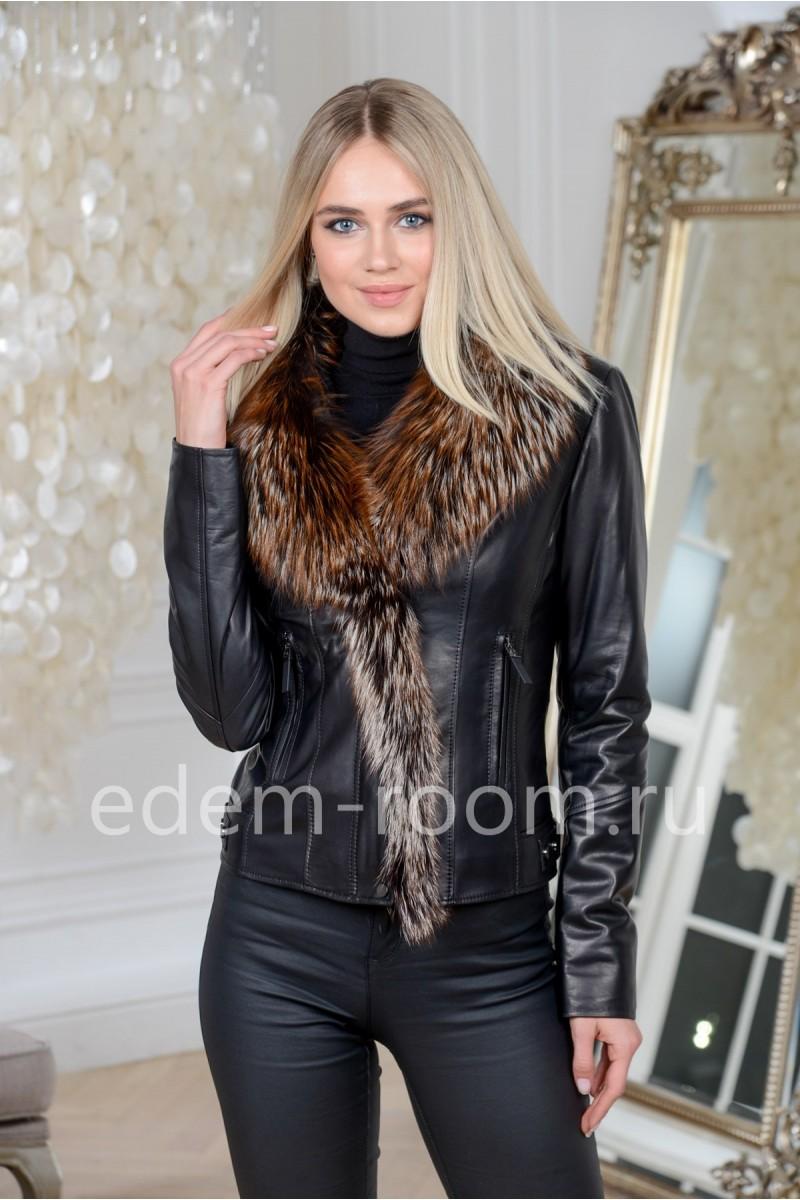 Кожаная куртка для жежсезонья