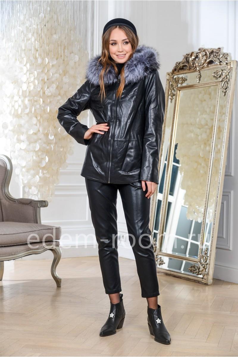 Кожаная куртка на межсезонье для женщин
