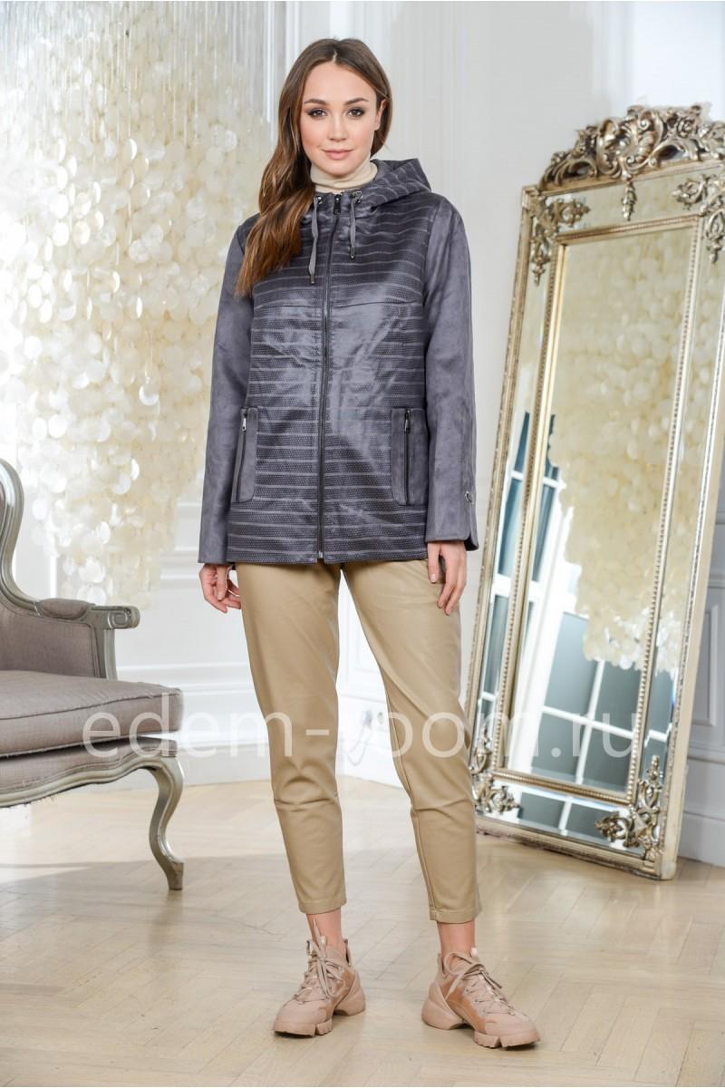 Легкая куртка из эко-замши