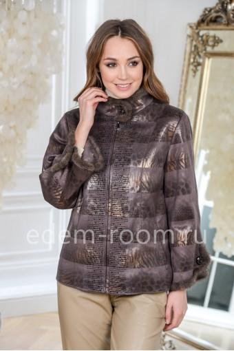 Облегчённая куртка из эко-замши