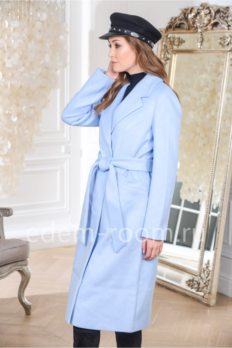 Пальто весеннее с поясом