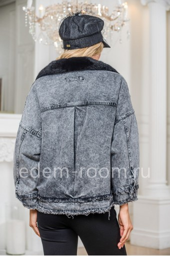 Джинсовка - куртка с меховым воротником