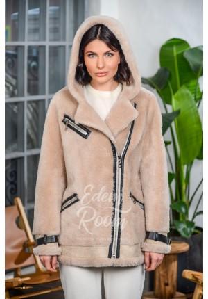 Куртка Авиатор из шерсти с капюшоном
