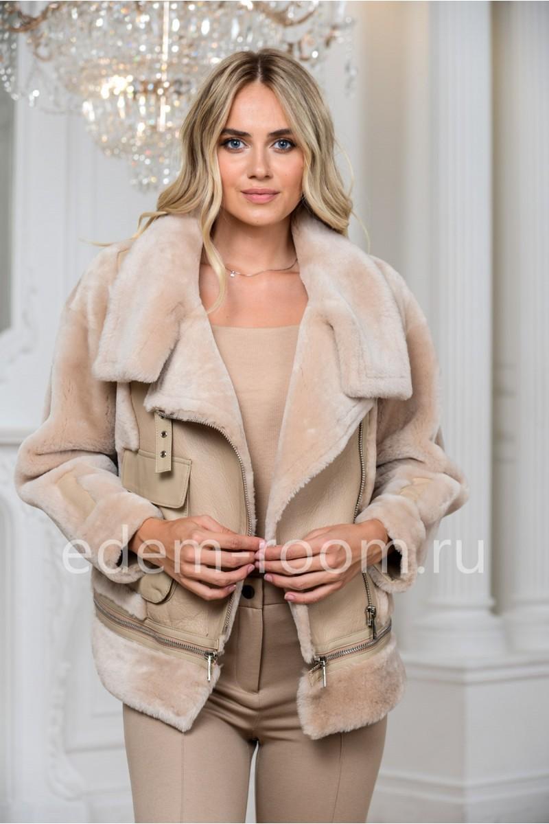 Дублёнка куртка - авиатор
