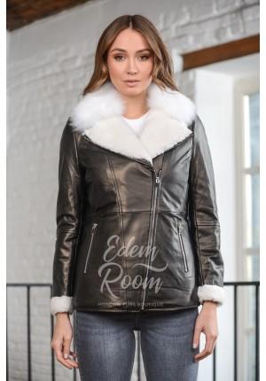 Куртка - дублёнка на цигейке