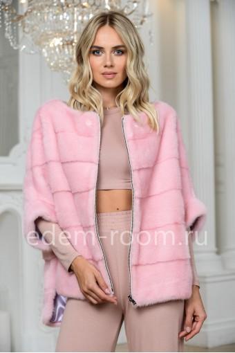 Розовая норковая кофта