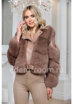 Кожаная куртка с мехом для межсезонья