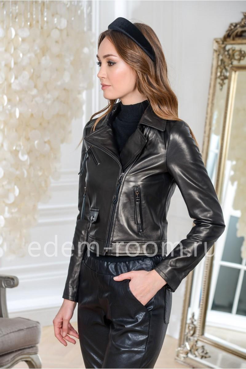 Кожаная куртка Весна 2020