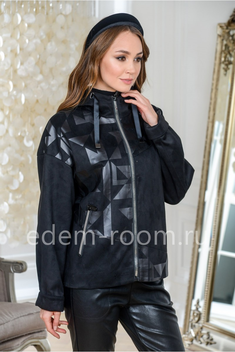 Куртка из эко - замши