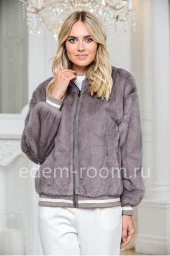 Норковая куртка на резинке