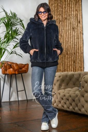 Норковая куртка - бомбер