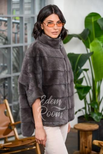 Куртка - кофта на молнии из меха норки