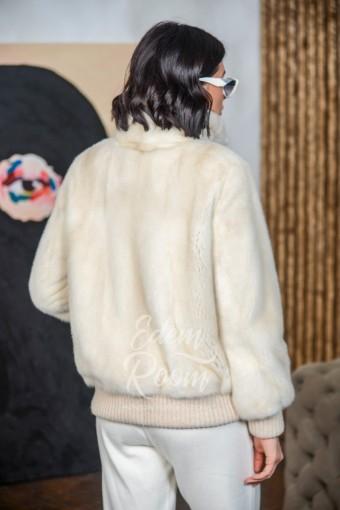 Меховая куртка из меха норки - бомбер