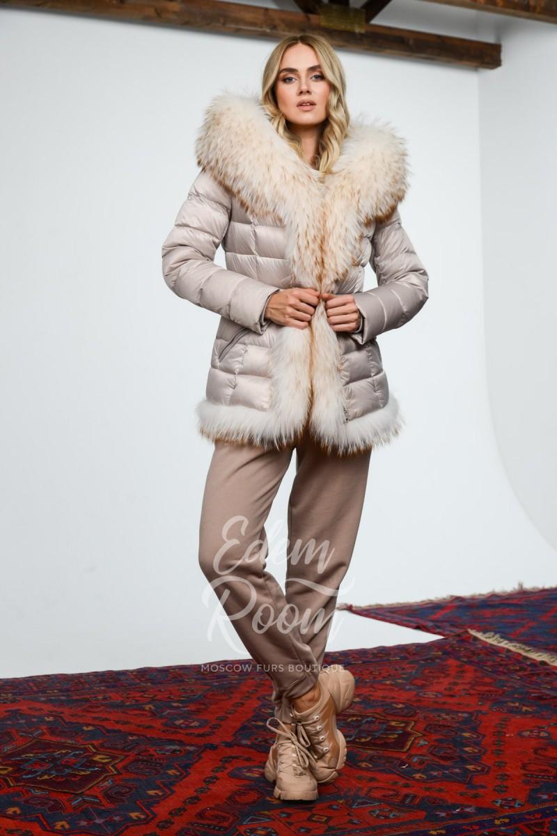 Короткая пуховая парка - куртка