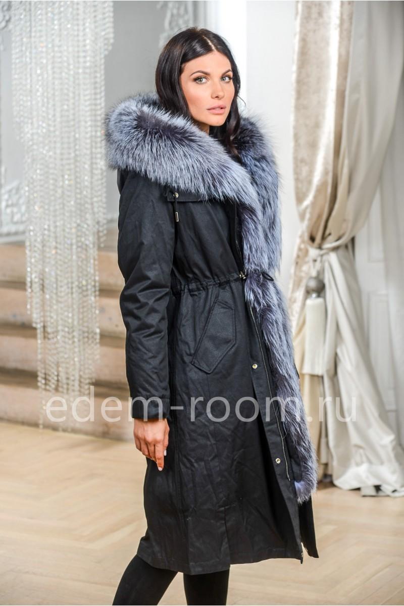 Парка  - пальто с мехом лисы