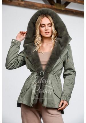 Кроткая парка - куртка с мехом норки