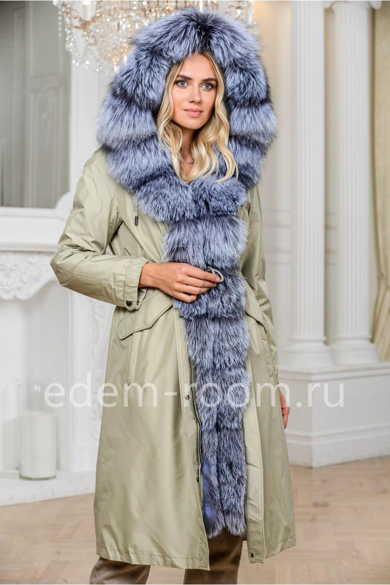 Удлинённая парка - пальто
