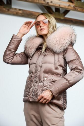 Укороченная куртка пуховик