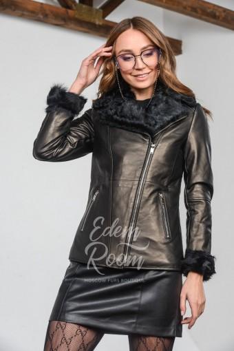 Кожаная куртка на мехе