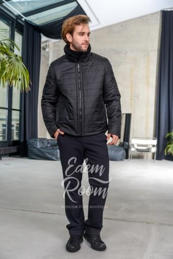 Демисезонная мужская куртка на резинке